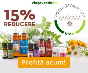 Campanie de reduceri 15% Reducere la toate produsele MAYAM | 1-31 August 2020 | Viata Verde Viu