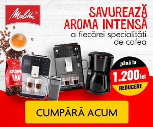 Campanie de reduceri Savureaza aroma intensa a cafelei cu espressoarele Melitta!