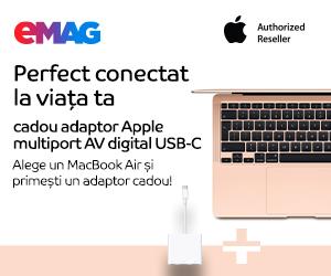 Campanie de reduceri MacBook Air adaptor cadou