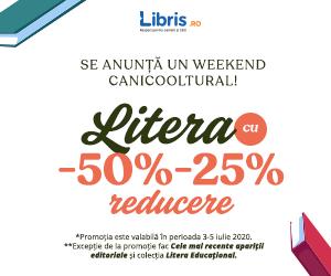 Campanie de reduceri LITERA -50% -25%! Se anunta un weekend CaniCOOLtural!