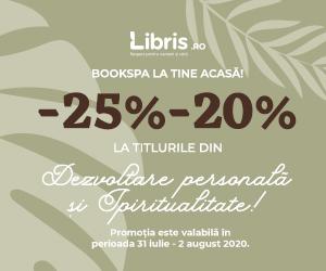 Campanie de reduceri -25% -20% la Dezvoltare personala si Spiritualitate