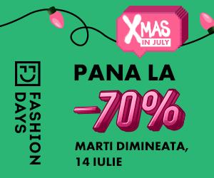 Campanie de reduceri Teasing Xmas in July - reduceri de pana la 70%