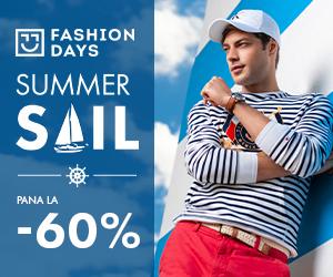 Campanie de reduceri Summer Sail - pana la -60% la articolele pentru barbati