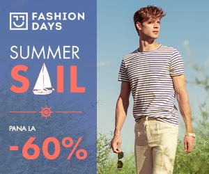 Campanie de reduceri Summer Sail - pana la -60% la articolele pentru barbati (refresh)