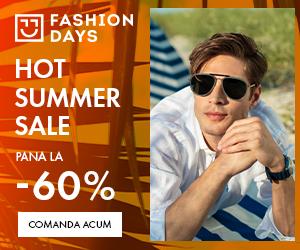 Campanie de reduceri Hot Summer Sale - reduceri de pana la 60% la articolele pentru barbati (3 - 16 august)