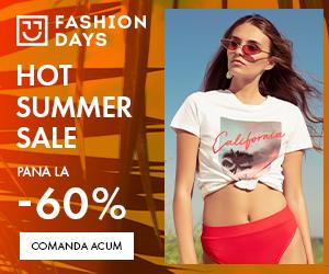 Campanie de reduceri Hot Summer Sale - reduceri de pana la 60% la articolele pentru femei (3-16 august)