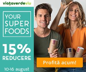 Campanie de reduceri 15% Reducere la toate Mixurile de Superalimente YOUR SUPER - 10-16 august