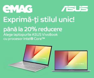 Campanie de reduceri ASUS VivoBook cu procesor Intel Core