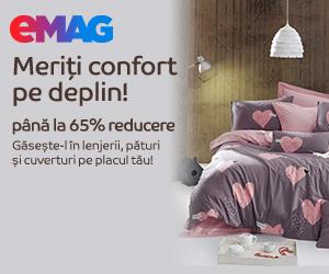 Campanie de reduceri Reducere pana la 60% la lenjerii de pat, paturi si cuverturi, 01- 30.09.2020