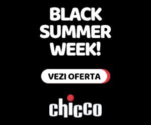 Campanie de reduceri Black Week www.chicco.ro 26 august - 1 septembrie