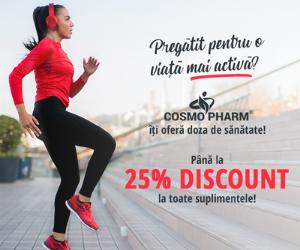 Campanie de reduceri Zilele Cosmopharm Până la -25%