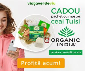 Campanie de reduceri CADOU Mix de Ceaiuri Tulsi Organic India la orice comanda pe ViataVerdeViu.ro