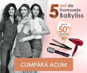 Campanie de reduceri Sarbatorim 5 ani de frumusete BaByliss!