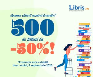 Campanie de reduceri -50% la 500 de titluri!
