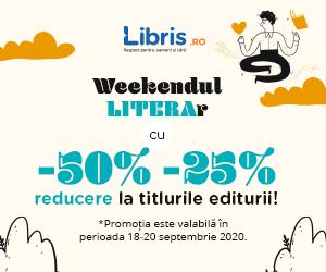 Campanie de reduceri Weekend LITERAr cu -50% -25% reducere la titlurile editurii!