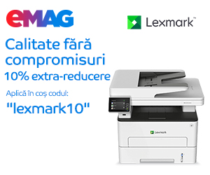 Campanie de reduceri Lexmark online campaign