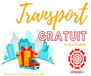 Campanie de reduceri 3 ZILE DE TRANSPORT GRATUIT!