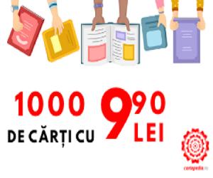 Campanie de reduceri 1000 de carti la 9.90 lei!
