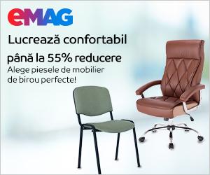 Campanie de reduceri Reducere pana la 55% la scaunele de birou, 05- 31.10.2020
