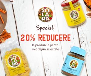 Campanie de reduceri Oferta speciala Solaris 20%