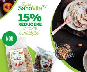 Campanie de reduceri Zilele SanoVita 15% Reducere