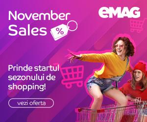 Campanie de reduceri Campanie November Sales, 02-08 noiembrie 2020